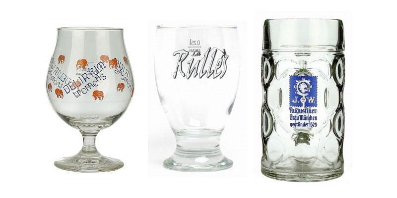 Bicchieri vetro per birra su Birraland