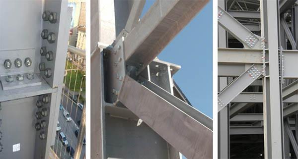 Esempi di giunzioni bullonate tra profili di acciaio, by Fondazione Promozione Acciaio