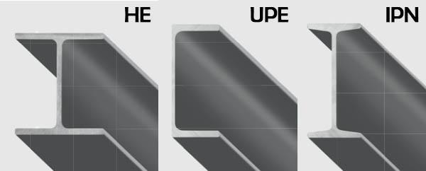 Tipici profilati in acciaio: HE, UPE e IPN, by Gruppo Beltrame