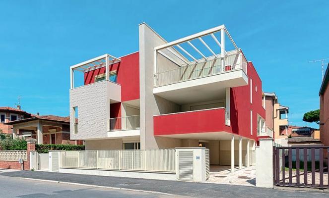 Edificio residenziale di Marina di Grosseto con struttura in acciaio, by Fondazione Promozione Acciaio