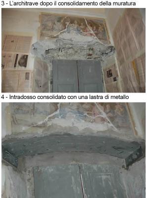 Fasi 3 e 4 del consolidamento di un architrave, by DZ Servizi Restauro