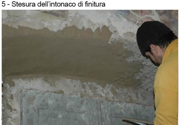 Fase 5 del consolidamento di un architrave, by DZ Servizi Restauro