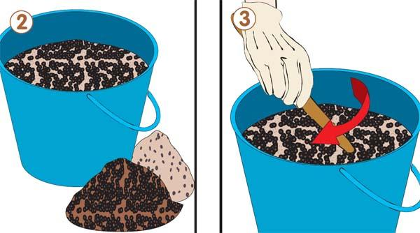 Creare un miscuglio di semi scelti per realizzare il prato