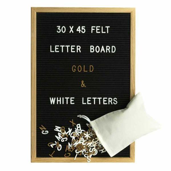 Lavagna Letter board in feltro su Amazon