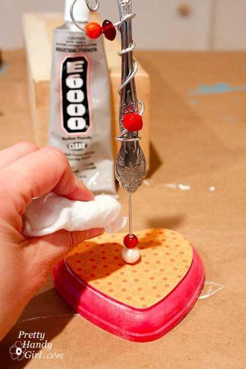 Portafoto con le forchette pronto, da prettyhandygirl.com