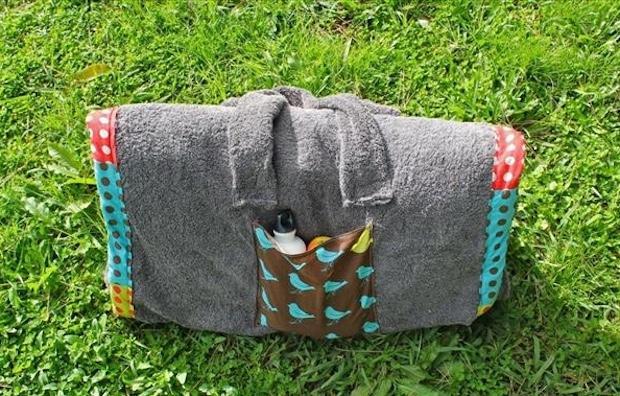 Telo mare con cuscino, trasportabile, da diy-enthusiasts.com