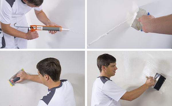 Posa Depron Fase 10: stuccatura delle fughe tra i pannelli