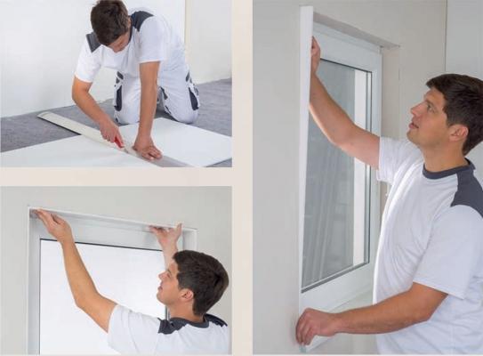 Esecuzione delle spallette di una finestra con il Depron