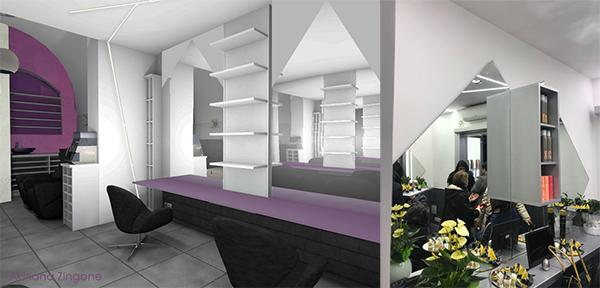 Salone di bellezza render di progetto Spadinohairstylist