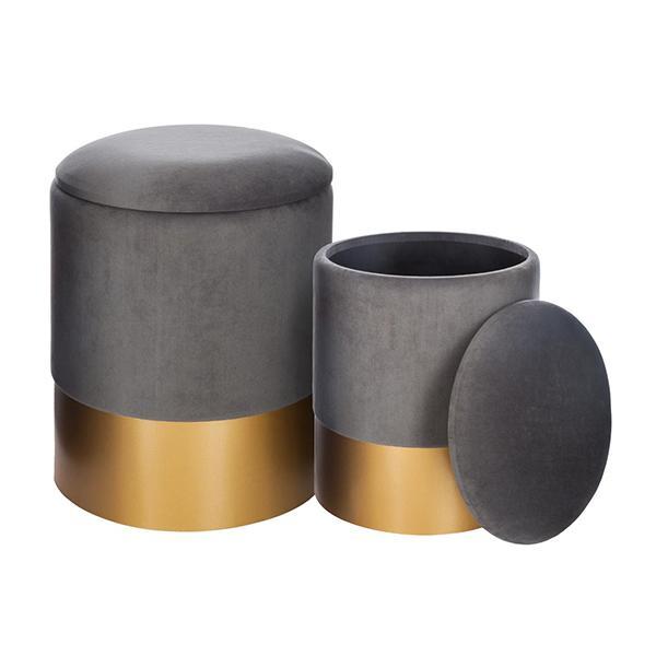 Set di 2 pouf contenitore spirit grigio Amazon