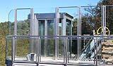 Cabina di un ascensore inclinato pubblico, by Maspero Elevatori