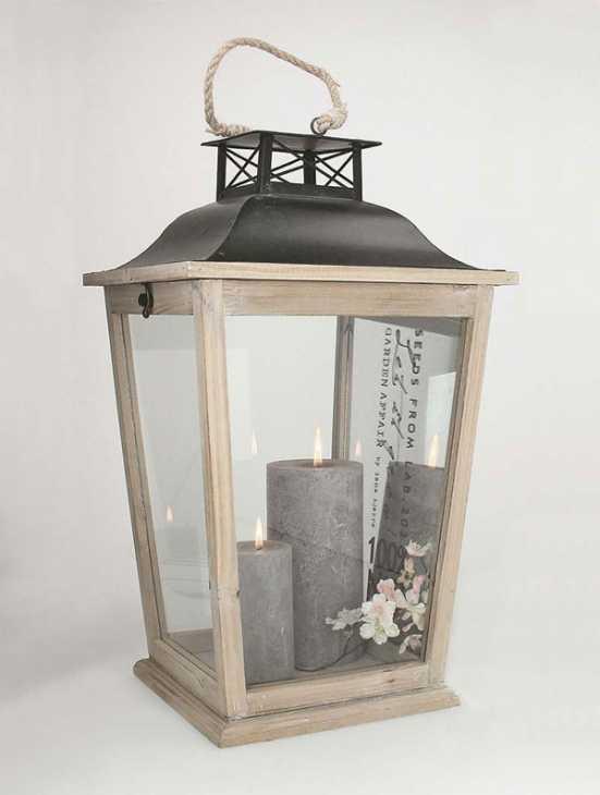Lanterne di legno colore naturale, di Buy Style