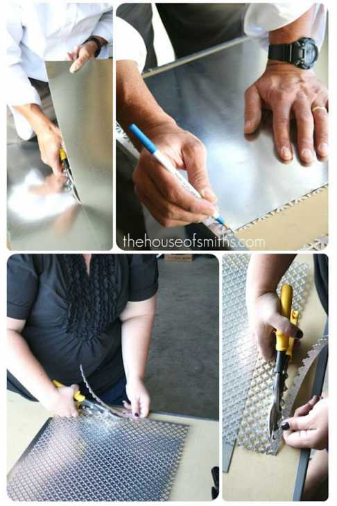 Bacheca magnetica con il telaio di una cornice: tutorial, da thehouseofsmiths.com