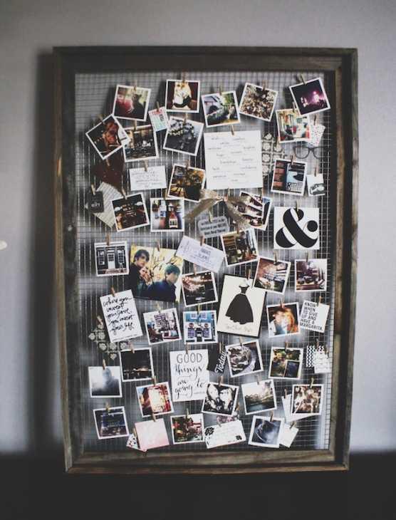 Cornice per appendere foto e cartoline, da theanastasiaco.com