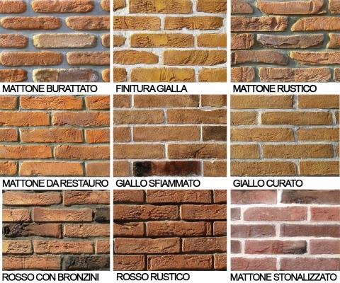 Finiture superficiali dei mattoni artigianali della Fornaci Fonti