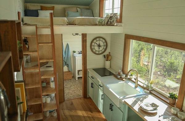 Tiny House: foto di un interno