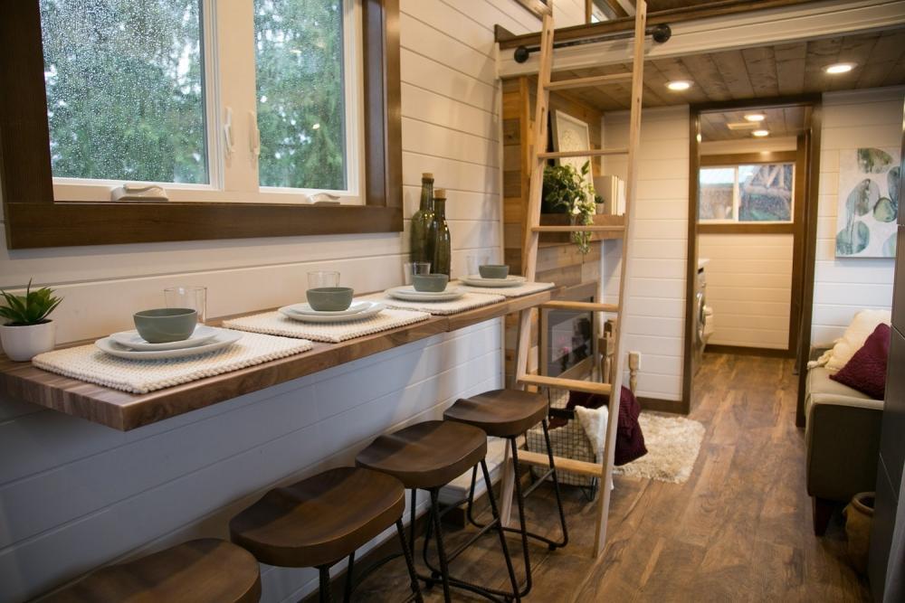 Cucina soggiorno tiny house Heirloom