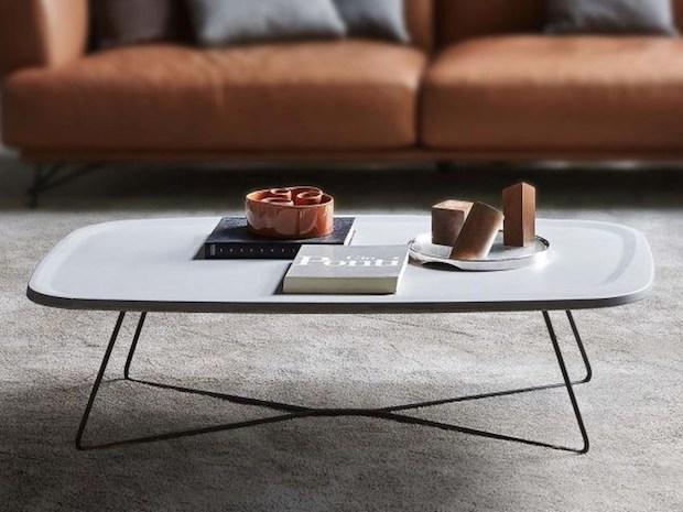 Tavolino basso in cemento, da Ditre Italia
