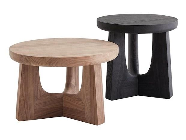 Tavolini rotondi in legno, da Poliform