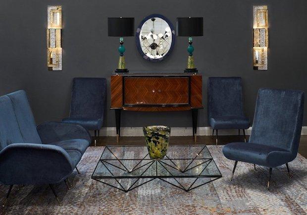 Tavolino in vetro di design, da B&B Italia