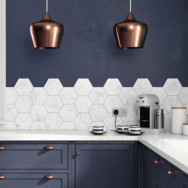 Arredare casa con forme esagonali - Piastrelle esagonali cucina ...