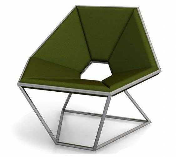 Poltrona esagonale di design, da Contempo