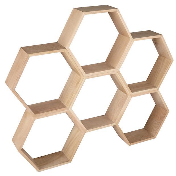 Scaffale a nido d'ape in rovere, da Maisons du Monde