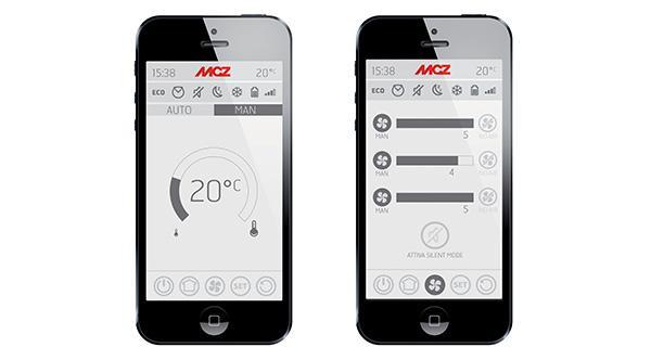 App per la gestione domotica di una termostufa di MCZ