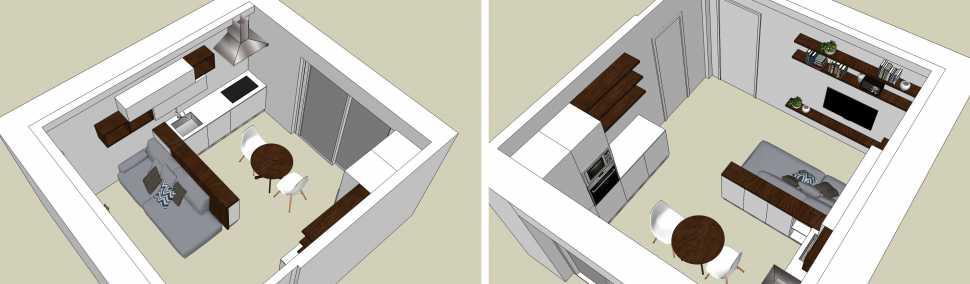 Idee di arredo soggiorno con cucina abitabile