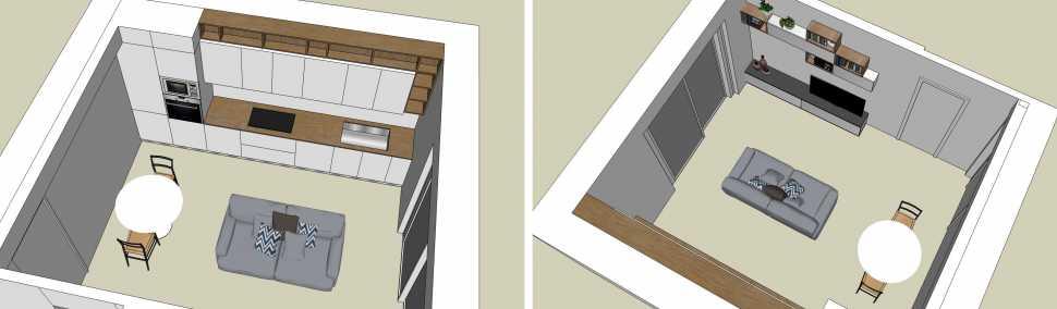 Esempi di arredamento soggiorno - open space