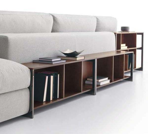 Arredare il soggiorno: divano con libreria Urban Ditre Italia