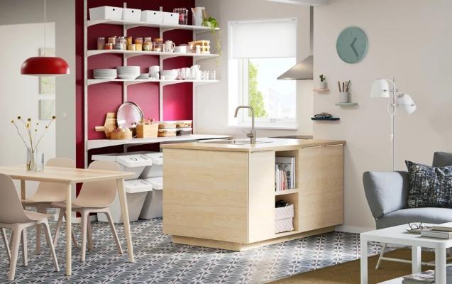 Soluzioni soggiorno con cucina : ikea