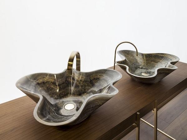 Lavelli in pietra: modello a corolla Bowl di Kreoo