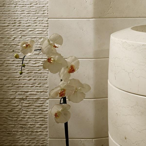 Lavabo in pietra con forma di macina per CNC di Zaninelli