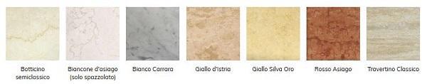 Materiali e finiture per i lavelli in pietra di Marmi Piccolo