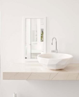 Lavabo in pietra Diamond di Kreoo, design Paolo Ulian & Moreno Ratti
