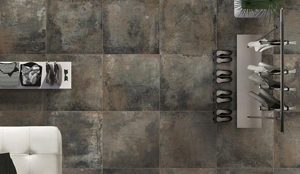 Piastrelle in gres Rust di Ceramica Rondine, ispirate alle lamiere ossidate