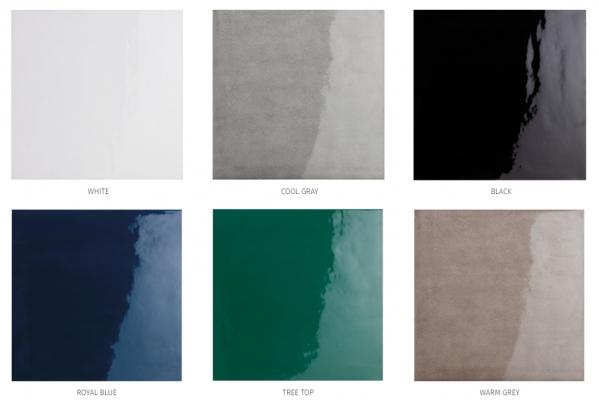 Palette dei colori della linea di piastrelle in gres c+ Glossy di Cottovietri