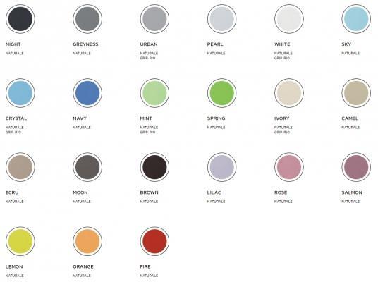 Palette dei colori della linea di piastrelle in gres K-Color di Keope