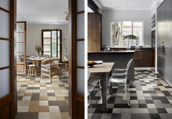 Mix match patchwork di piastrelle architettura e design a roma