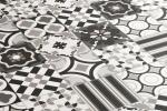 Linea di piastrelle Patchwork Blach&White by Ceramiche Sant'Agostino