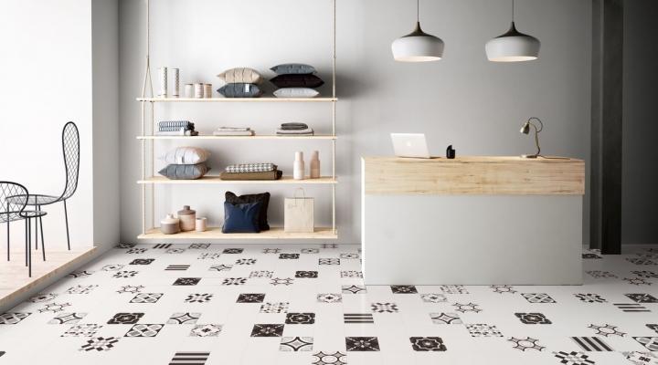Piastrelle atchwork Blach&White by Ceramiche Sant'Agostino