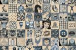 Piastrelle patchwork della serie Indigo by Novoceram