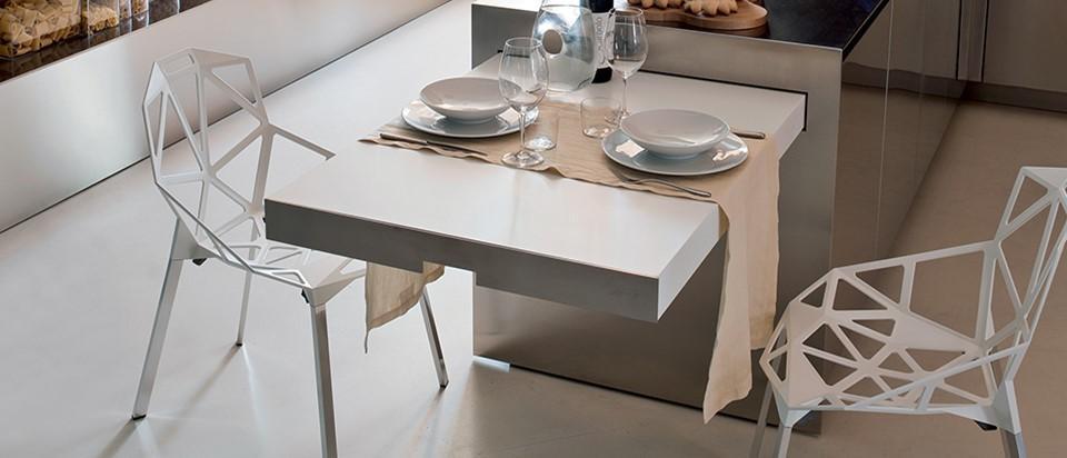 Cucina a vista con isola - Elmar easy table