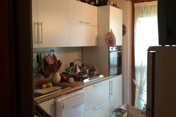 Cucina prima dei lavori: piano di lavoro