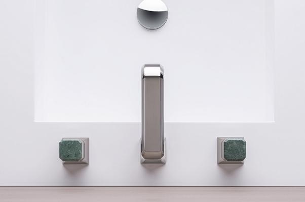 Ribinetteria con inserti in marmo di Cristina, modello Italy