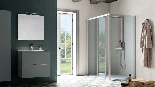 Box Vasca Da Bagno Angolare : Vasca da bagno angolare con box doccia. perfect spazio doccia giada
