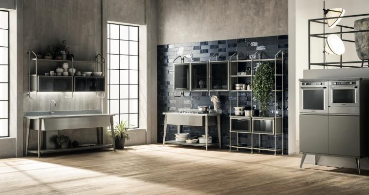 Scavolini cucine, serie Diesel Open Workshop