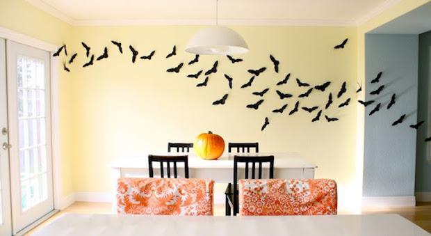 Uno stormo di pipistrelli come disegni per halloween, da madeeveryday.com
