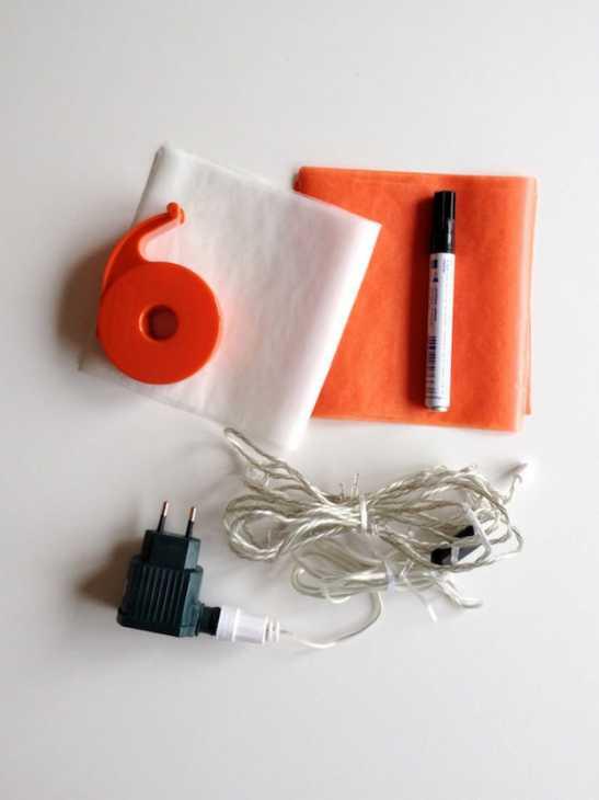 Zucche origami: occorrente, da handmadecharlotte.com